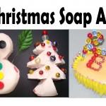 Christmas soap art